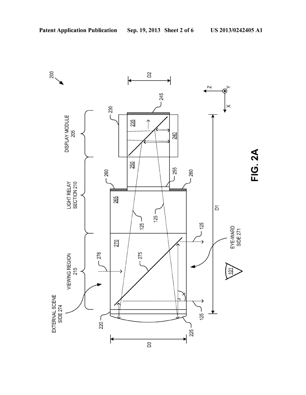 OPTICAL BEAM TILT FOR OFFSET HEAD MOUNTED DISPLAY - diagram, schematic, and image 03