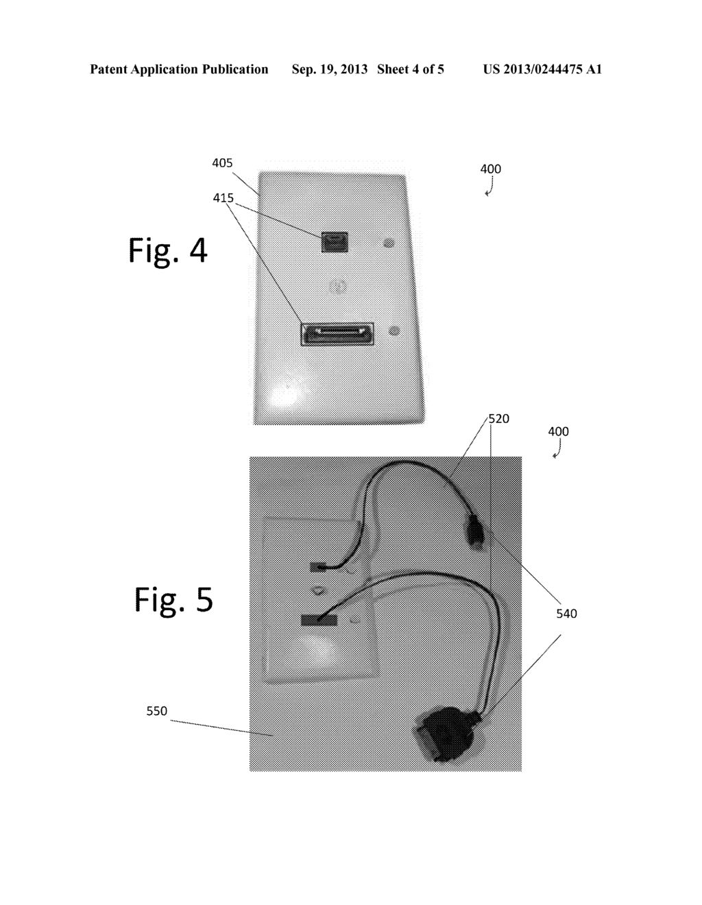 WALL OUTLET WITH RETRACTABLE USB CHARGING CABLE CONNECTED TO A USB PORT  WITHIN A WALL   Diagram, Schematic, And Image 05