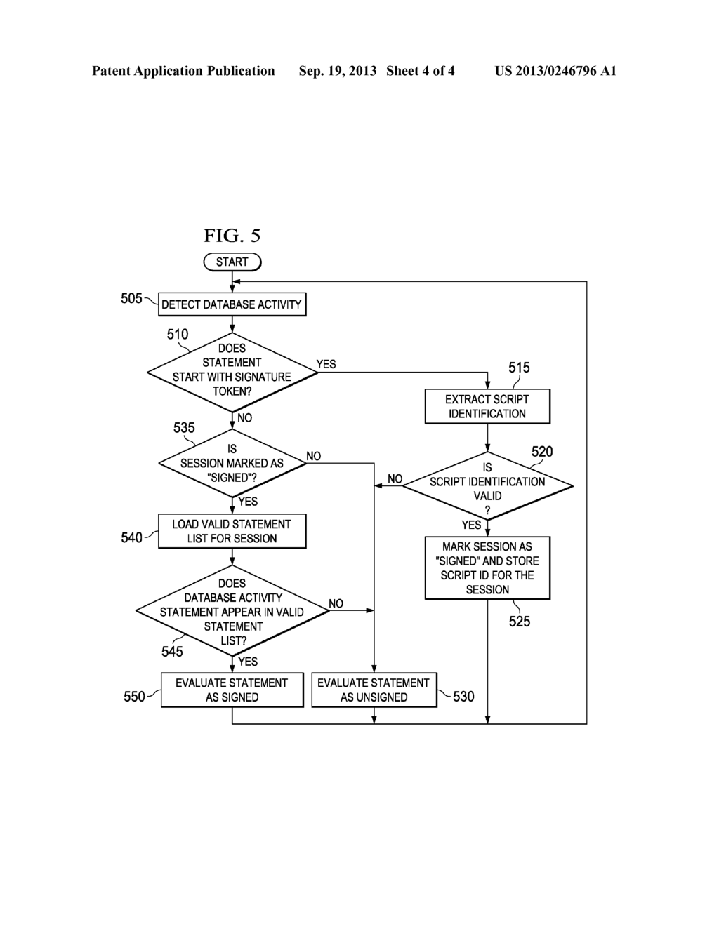 SYSTEM AND METHOD FOR SECURING DATABASE ACTIVITY - diagram, schematic, and image 05