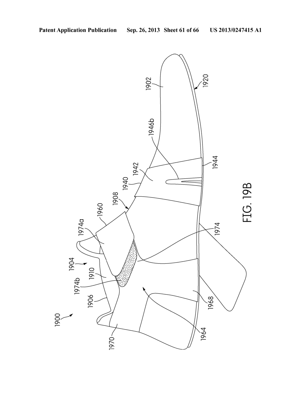 sole structure configured to allow relative heel forefoot motion Sketch of Heel sole structure configured to allow relative heel forefoot motion diagram schematic and image 62