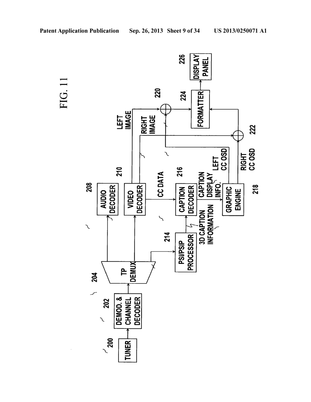 3D CAPTION DISPLAY METHOD AND 3D DISPLAY APPARATUS FOR IMPLEMENTING THE     SAME - diagram, schematic, and image 10