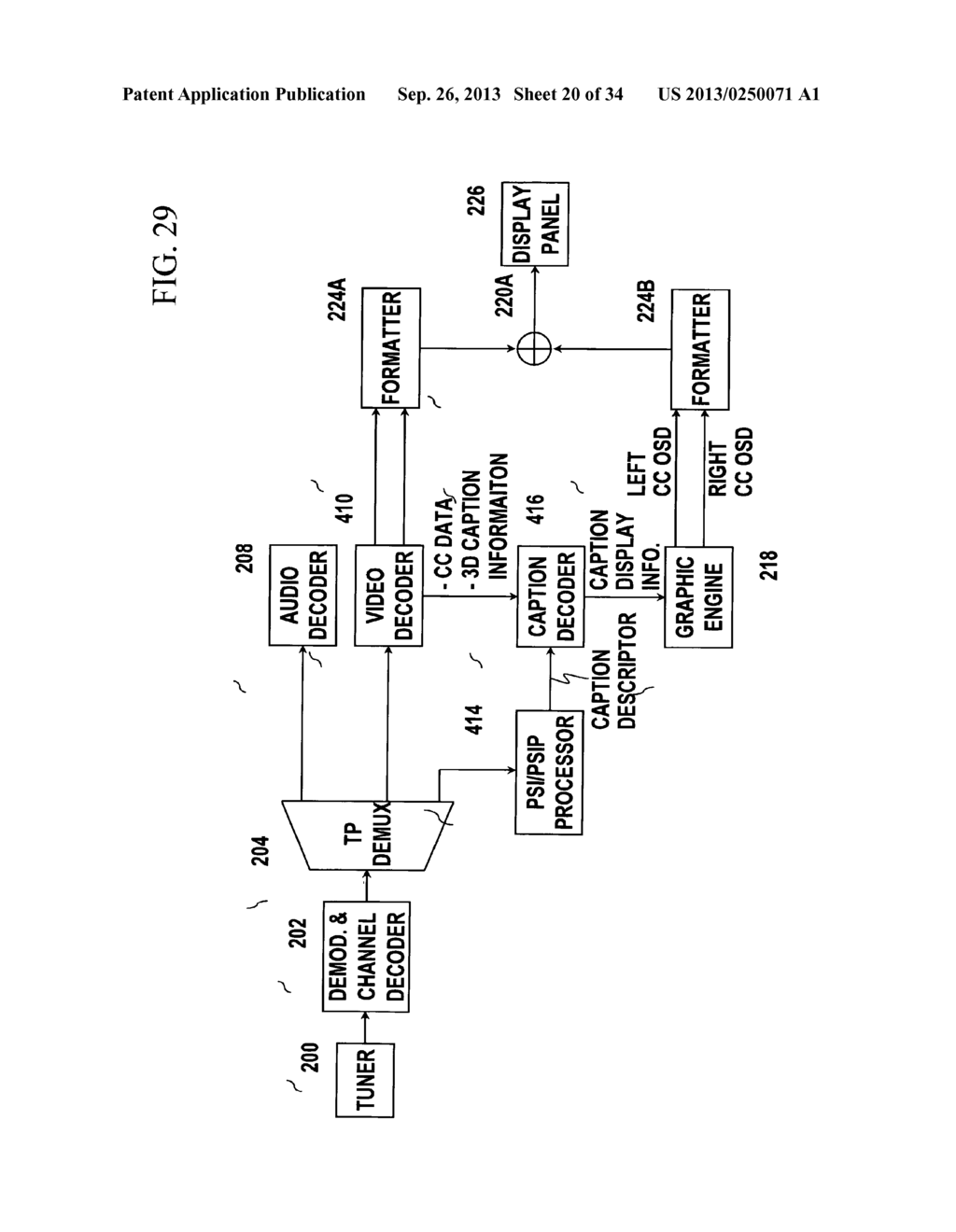 3D CAPTION DISPLAY METHOD AND 3D DISPLAY APPARATUS FOR IMPLEMENTING THE     SAME - diagram, schematic, and image 21