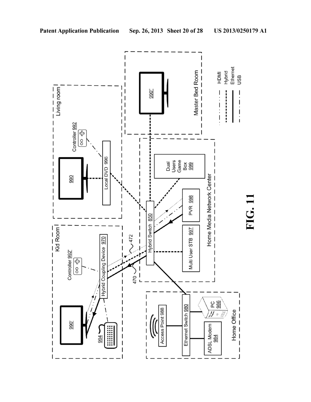 MANAGING COMPRESSED AND UNCOMPRESSED VIDEO STREAMS OVER AN ASYMMETRIC     NETWORK - diagram, schematic, and image 21