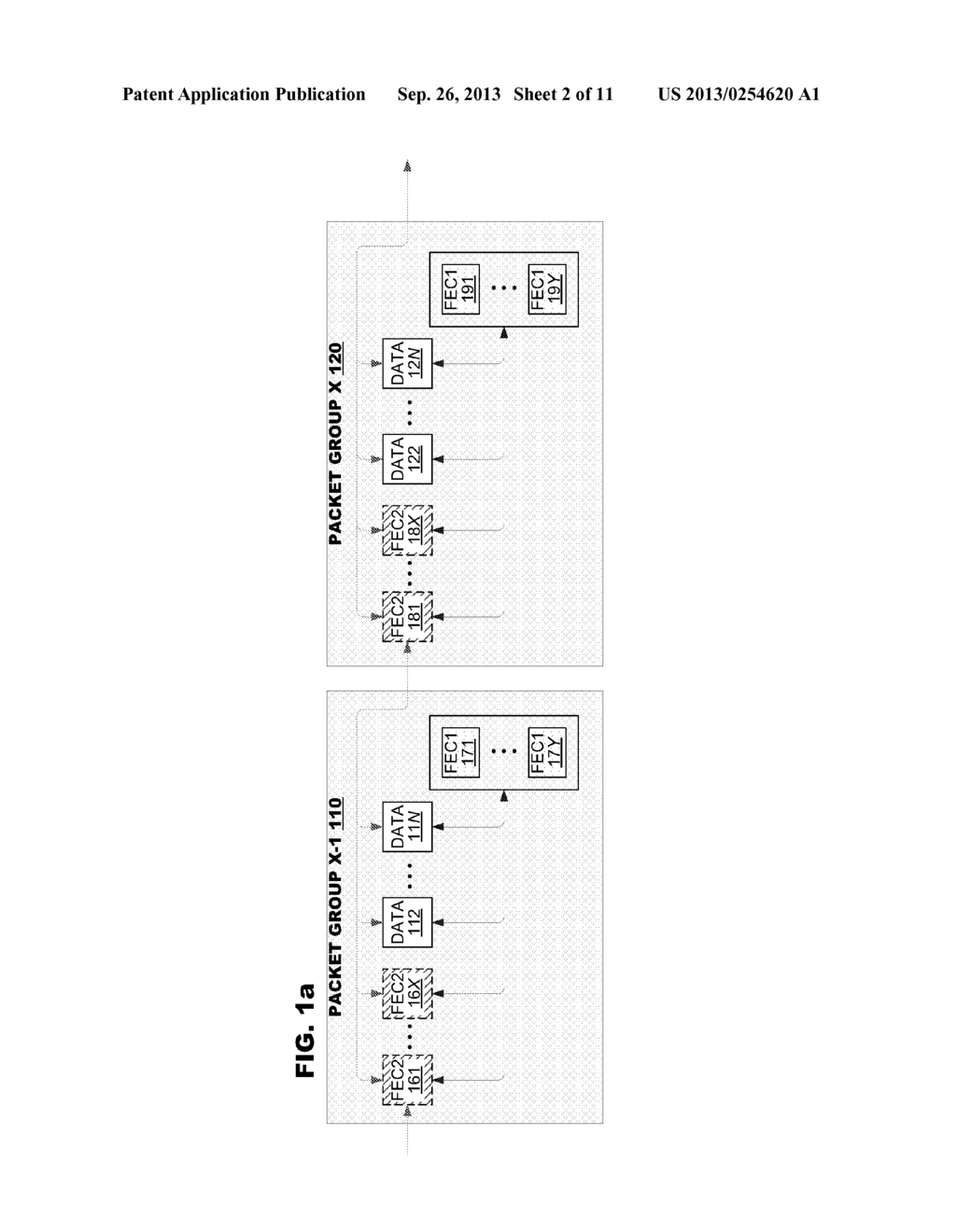 IMPROVED ERROR CORRECTION CODING FOR RECOVERING MULTIPLE PACKETS IN A     GROUP IN VIEW OF LIMITED BANDWIDTH - diagram, schematic, and image 03
