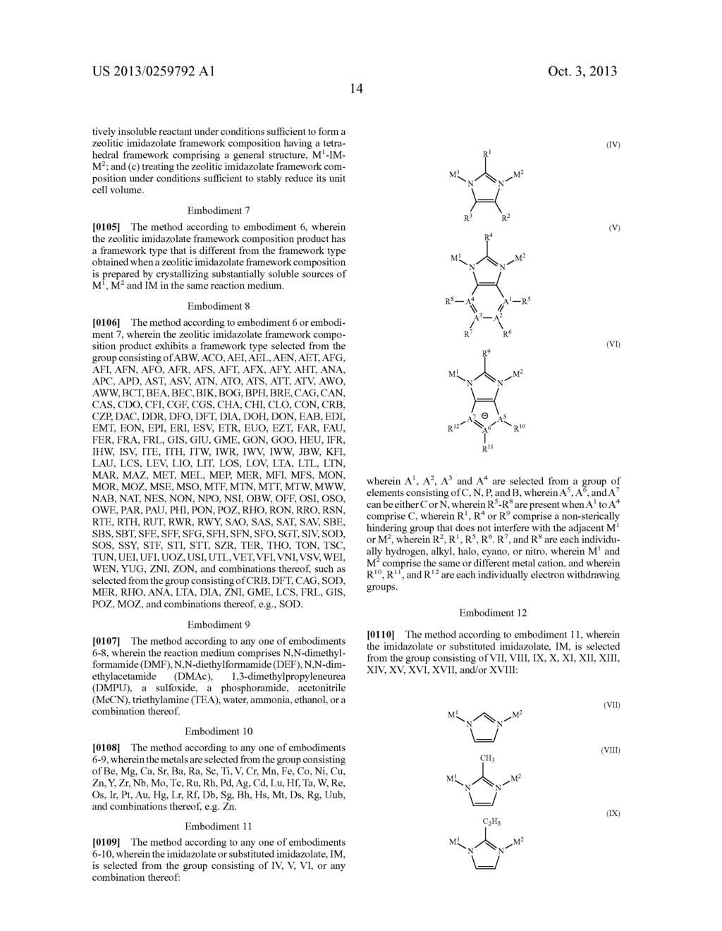 EMM19star NOVEL ZEOLITIC IMIDAZOLATE FRAMEWORK MATERIAL, METHODS FOR     MAKING SAME, AND USES THEREOF - diagram, schematic, and image 41