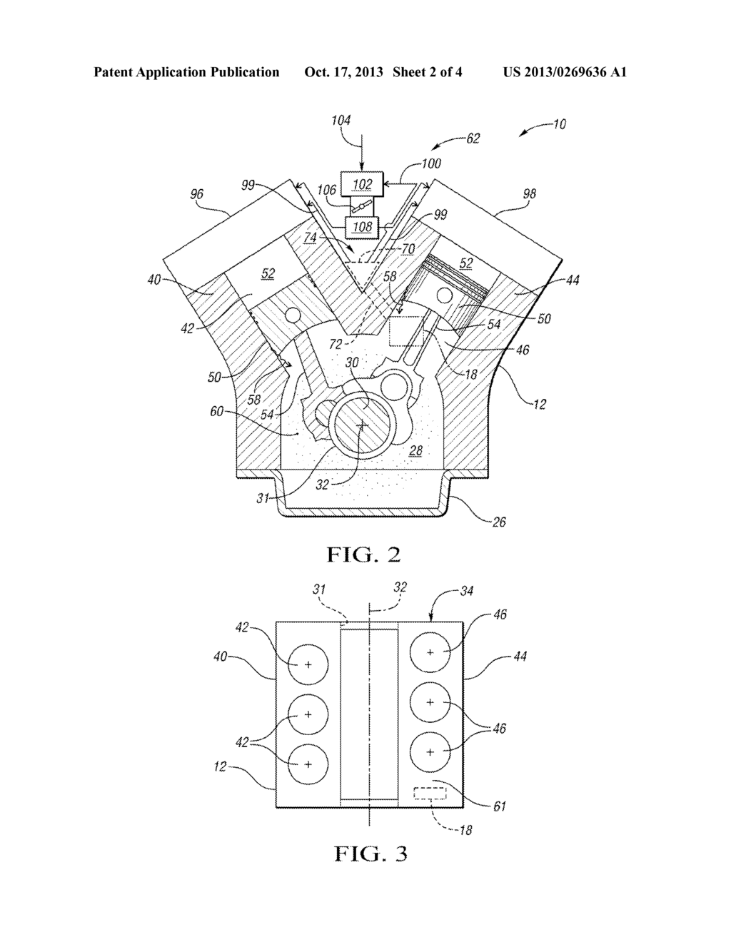 ENGINE ASSEMBLY WITH ENGINE BLOCK-MOUNTED AIR-OIL SEPARATOR AND METHOD OF  VENTILATING AN ENGINE CRANKCASE - diagram, schematic, and image 03
