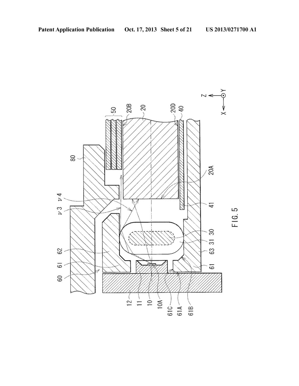 LIGHT EMITTING DEVICE, DISPLAY UNIT, AND ILLUMINATION UNIT - diagram, schematic, and image 06