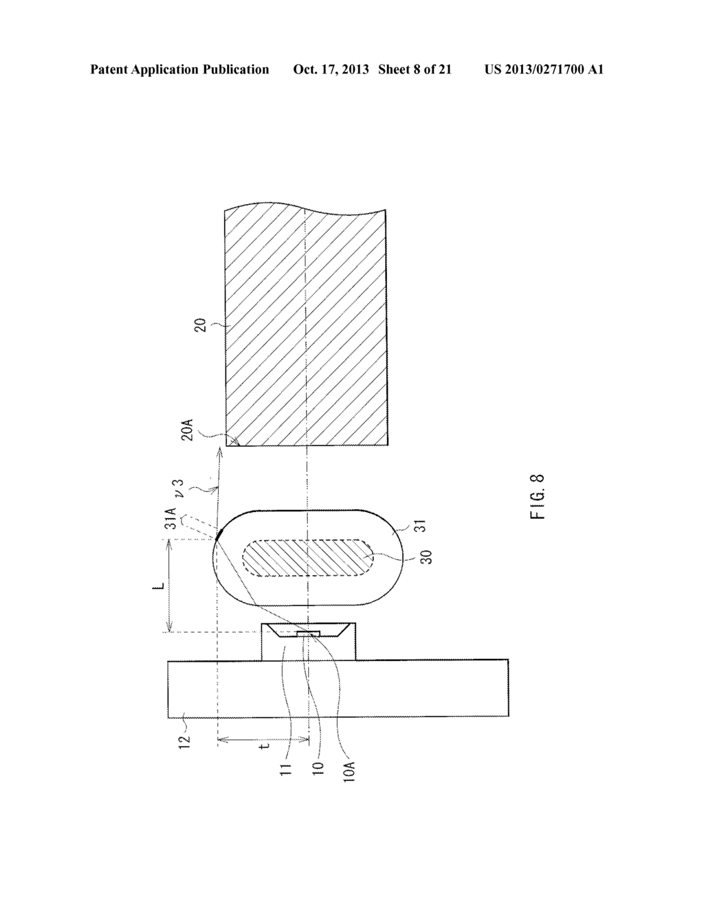 LIGHT EMITTING DEVICE, DISPLAY UNIT, AND ILLUMINATION UNIT - diagram, schematic, and image 09