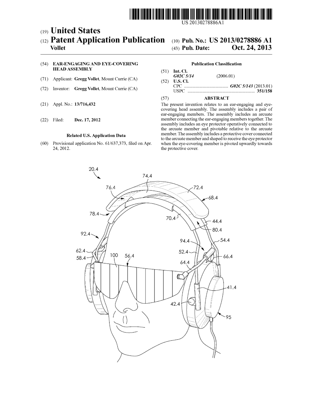 EAR-ENGAGING AND EYE-COVERING HEAD ASSEMBLY - diagram, schematic, and image 01