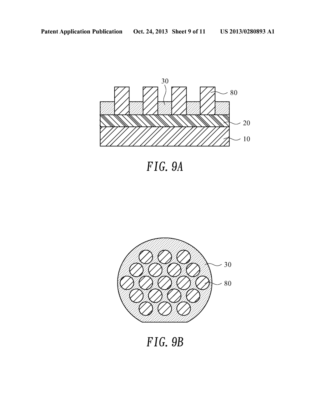 METHOD FOR PRODUCTION OF SELECTIVE GROWTH MASKS USING IMPRINT LITHOGRAPHY - diagram, schematic, and image 10
