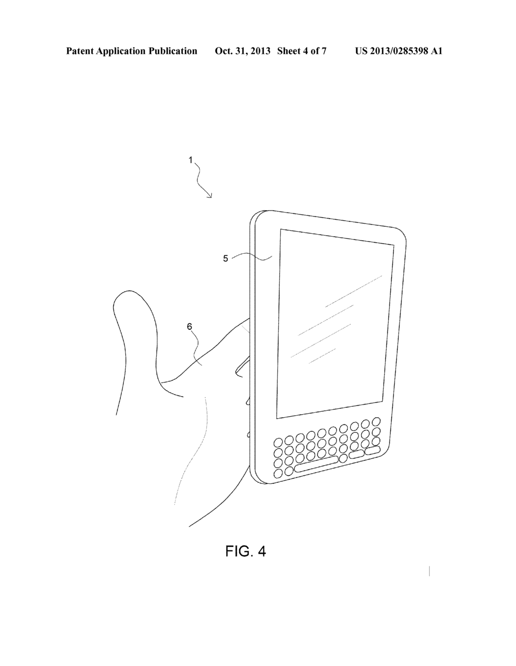 HOLDING AID FOR A PERSONAL, HAND-HELD, TABLET-SHAPED DEVICE AND METHODS OF     USE - diagram, schematic, and image 05