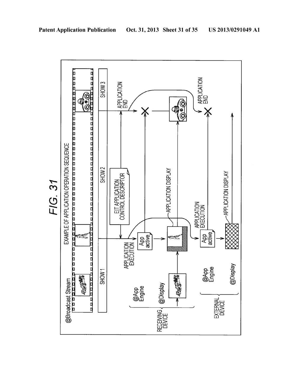 RECEIVING DEVICE, RECEIVING METHOD, PROVIDING DEVICE, PROVIDING METHOD,     PROGRAMS, AND BROADCASTING SYSTEM - diagram, schematic, and image 32