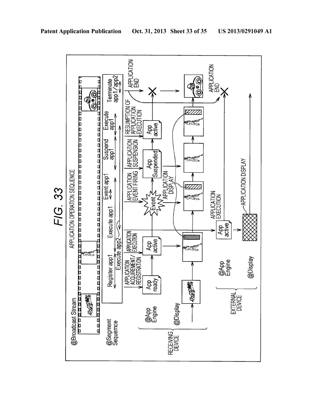 RECEIVING DEVICE, RECEIVING METHOD, PROVIDING DEVICE, PROVIDING METHOD,     PROGRAMS, AND BROADCASTING SYSTEM - diagram, schematic, and image 34