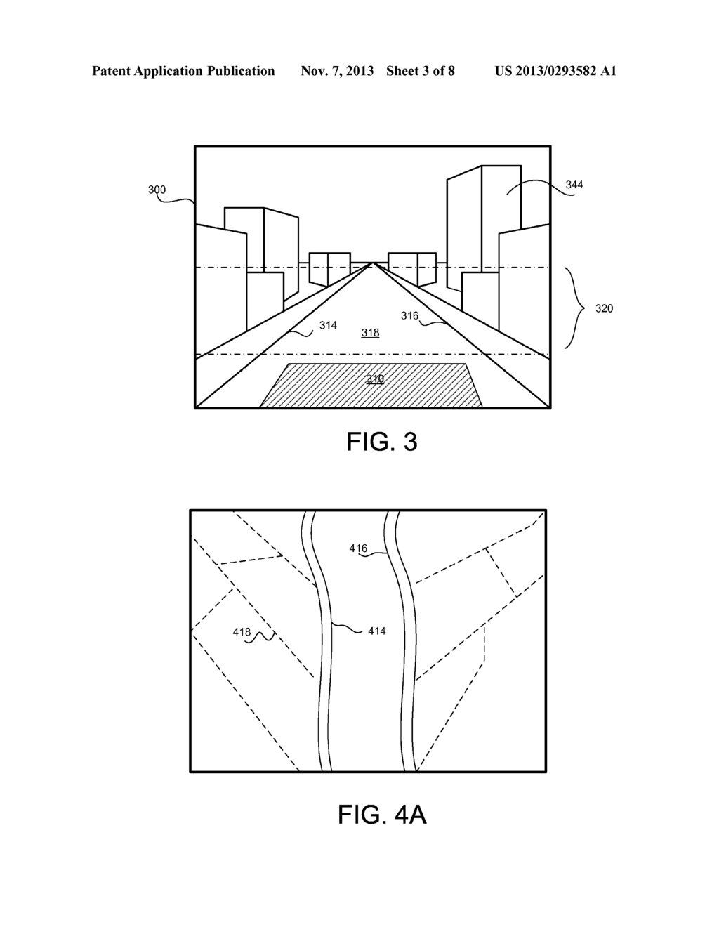 METHOD TO GENERATE VIRTUAL DISPLAY SURFACES FROM VIDEO IMAGERY OF ROAD     BASED SCENERY - diagram, schematic, and image 04
