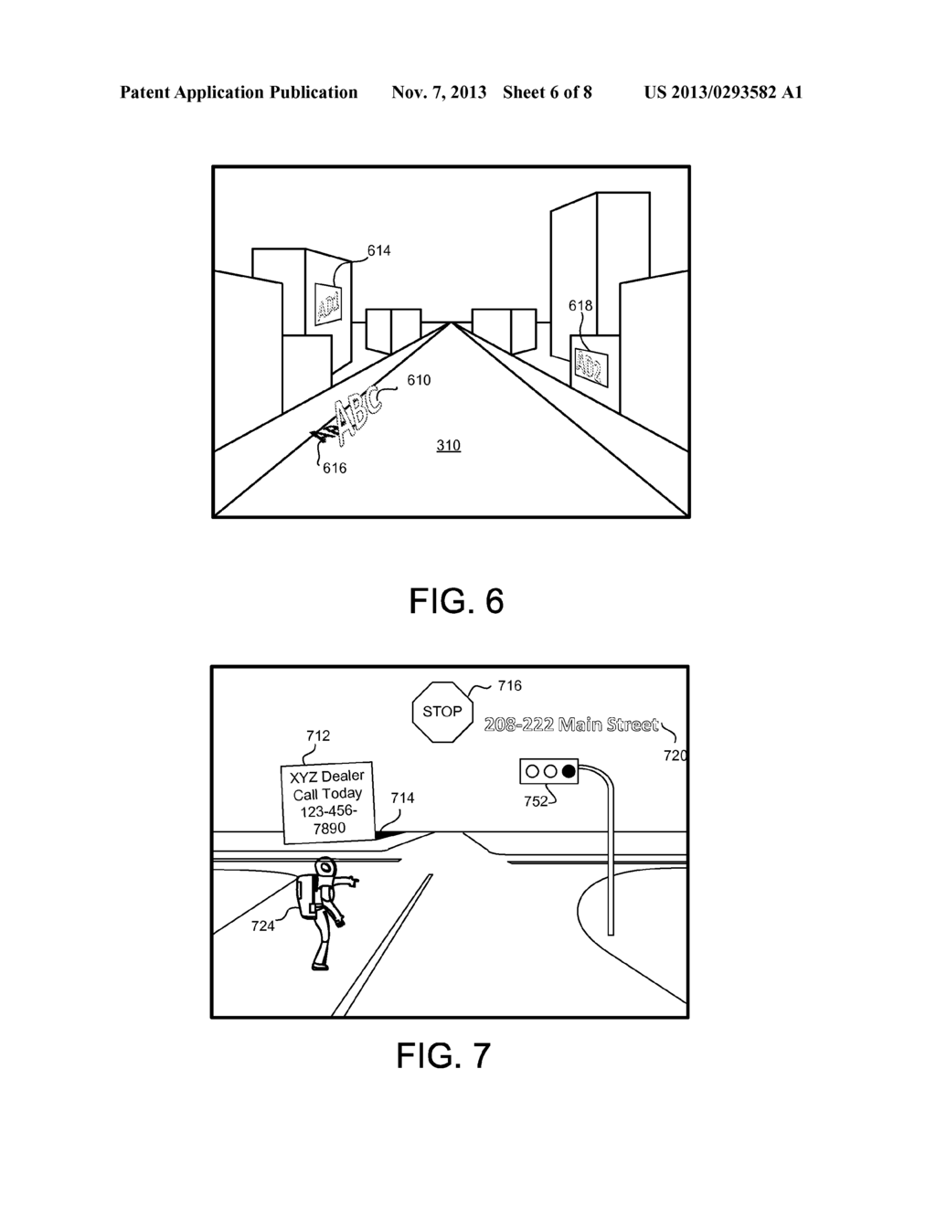 METHOD TO GENERATE VIRTUAL DISPLAY SURFACES FROM VIDEO IMAGERY OF ROAD     BASED SCENERY - diagram, schematic, and image 07