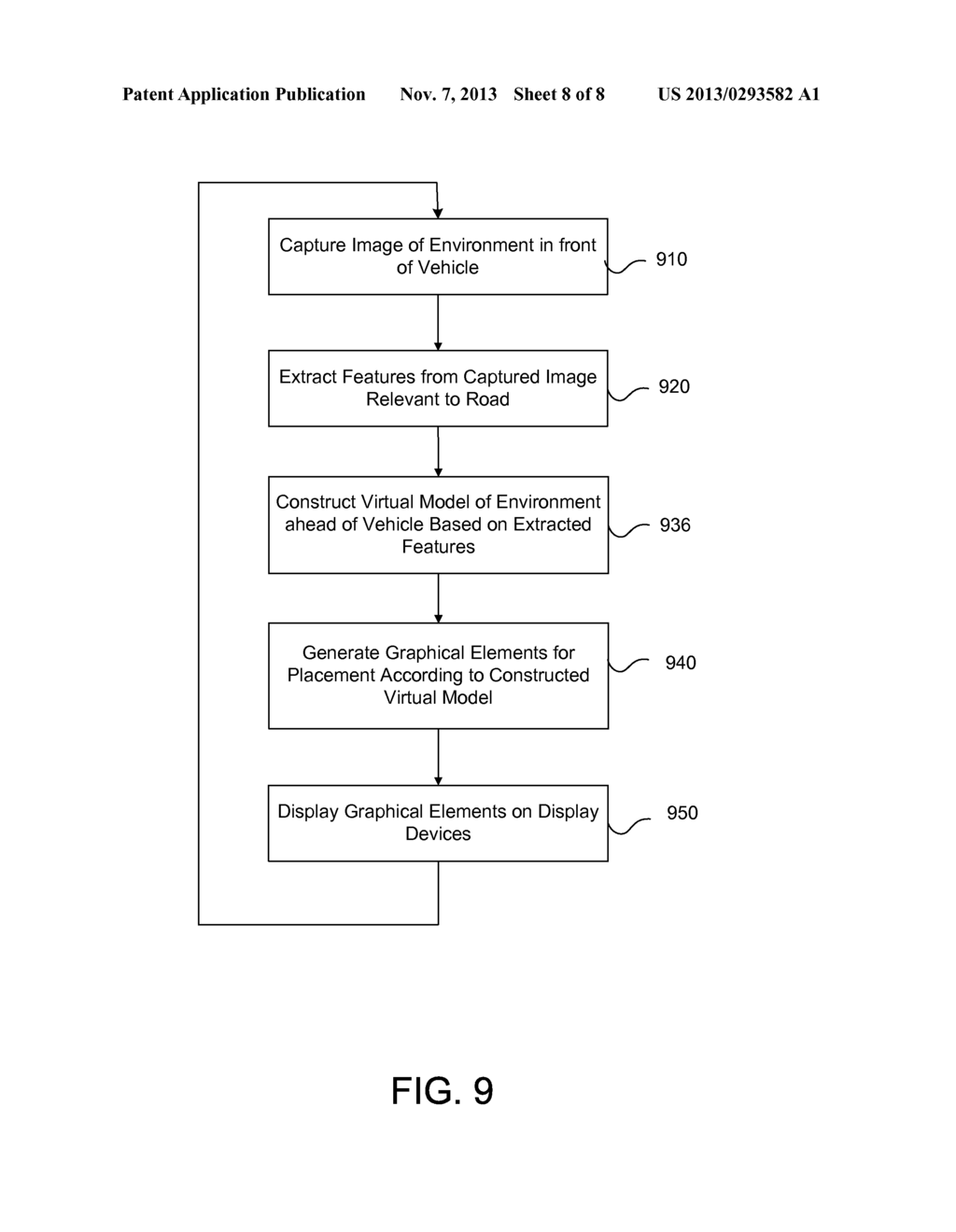 METHOD TO GENERATE VIRTUAL DISPLAY SURFACES FROM VIDEO IMAGERY OF ROAD     BASED SCENERY - diagram, schematic, and image 09
