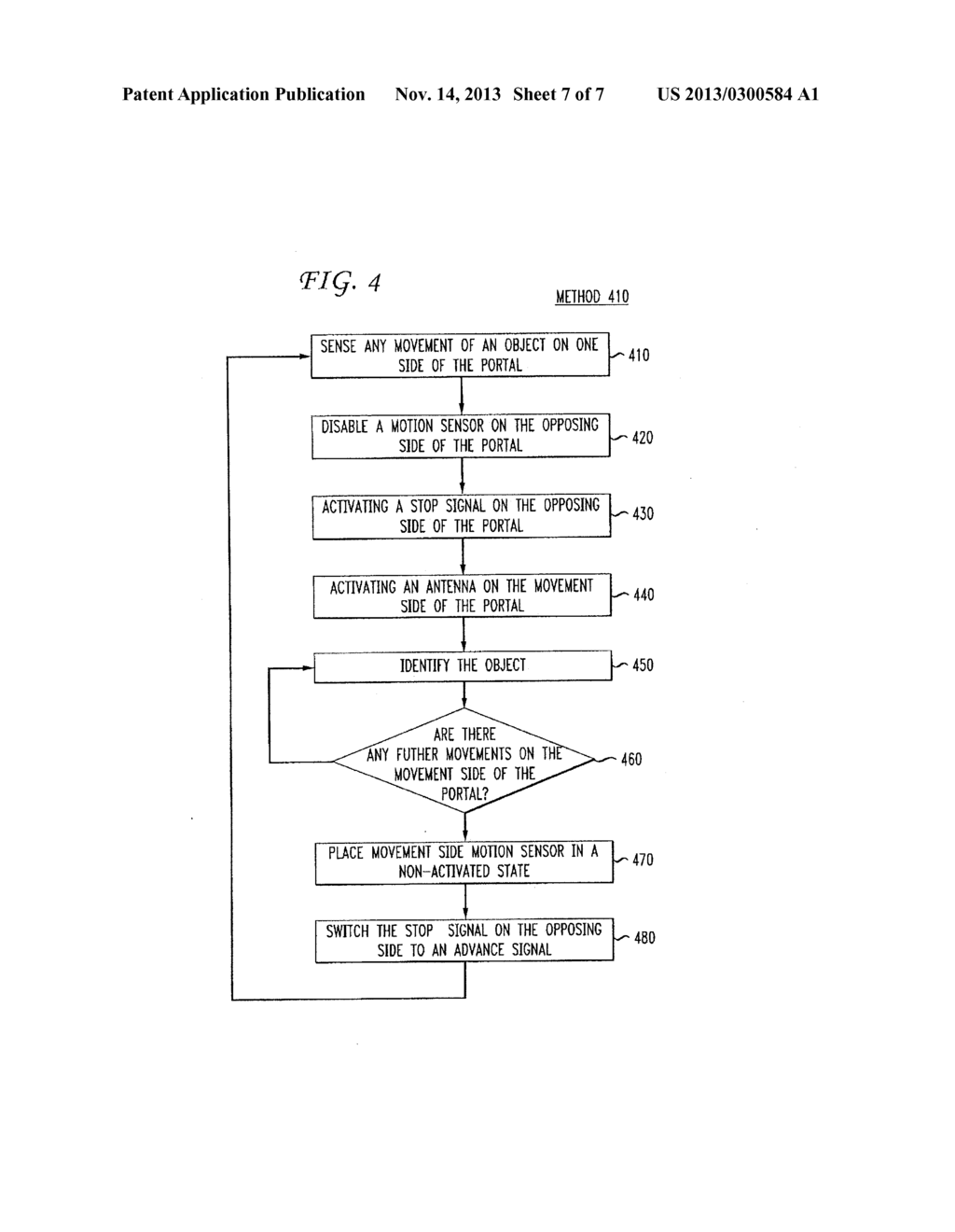 METHOD AND SYSTEM FOR CONTROLLING THE TRAFFIC FLOW THROUGH AN RFID     DIRECTIONAL PORTAL - diagram, schematic, and image 08