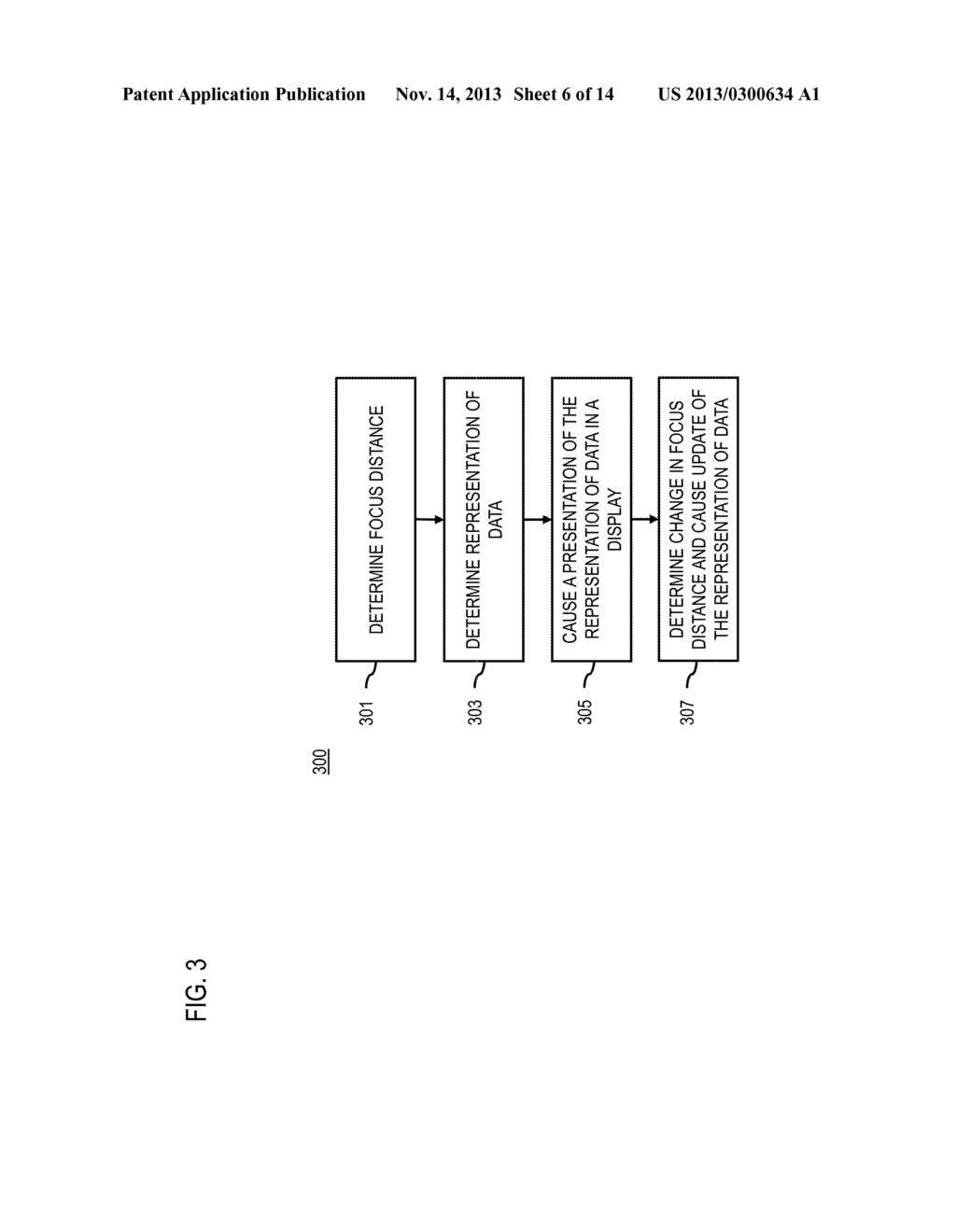 METHOD AND APPARATUS FOR DETERMINING REPRESENTATIONS OF DISPLAYED     INFORMATION BASED ON FOCUS DISTANCE - diagram, schematic, and image 07