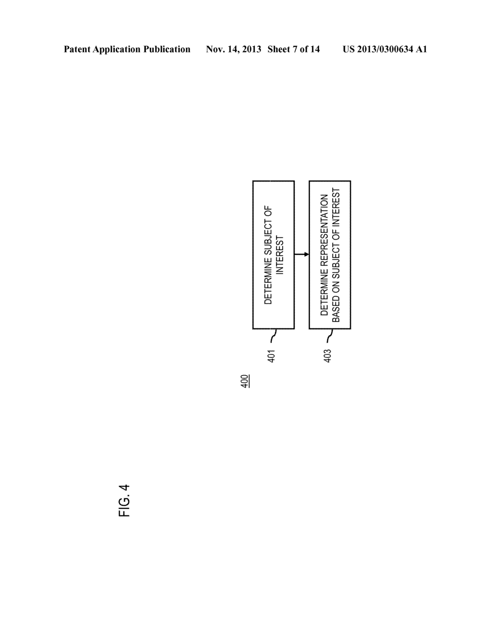 METHOD AND APPARATUS FOR DETERMINING REPRESENTATIONS OF DISPLAYED     INFORMATION BASED ON FOCUS DISTANCE - diagram, schematic, and image 08