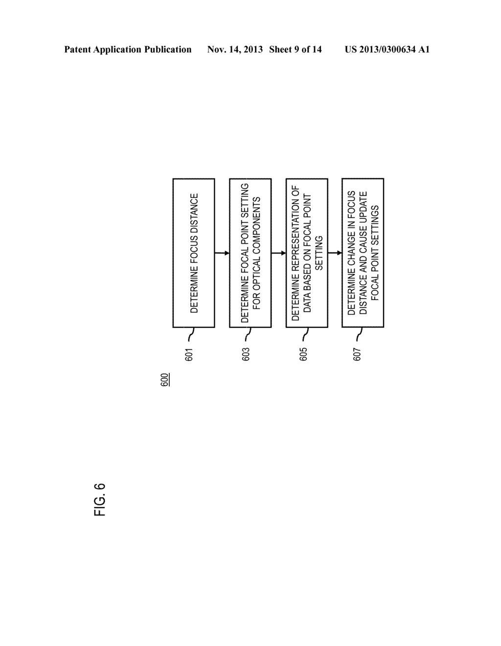 METHOD AND APPARATUS FOR DETERMINING REPRESENTATIONS OF DISPLAYED     INFORMATION BASED ON FOCUS DISTANCE - diagram, schematic, and image 10