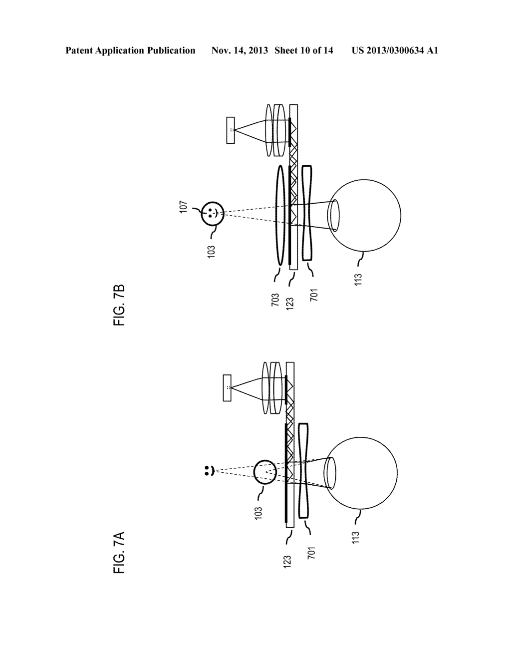 METHOD AND APPARATUS FOR DETERMINING REPRESENTATIONS OF DISPLAYED     INFORMATION BASED ON FOCUS DISTANCE - diagram, schematic, and image 11