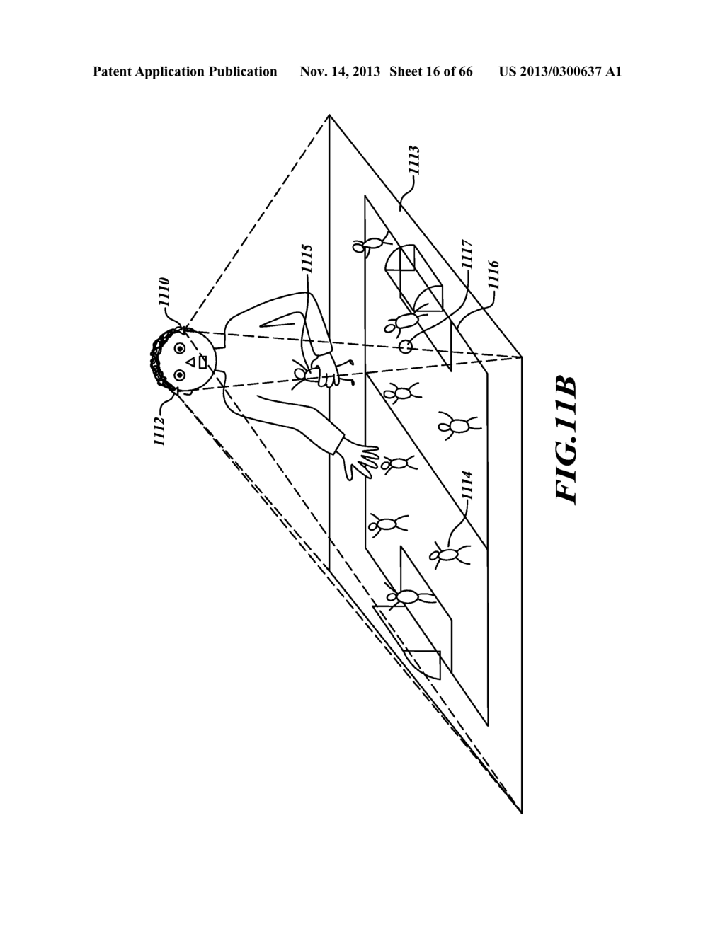 SYSTEM AND METHOD FOR 3-D PROJECTION AND ENHANCEMENTS FOR INTERACTIVITY - diagram, schematic, and image 17