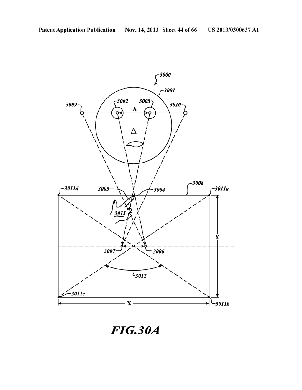 SYSTEM AND METHOD FOR 3-D PROJECTION AND ENHANCEMENTS FOR INTERACTIVITY - diagram, schematic, and image 45