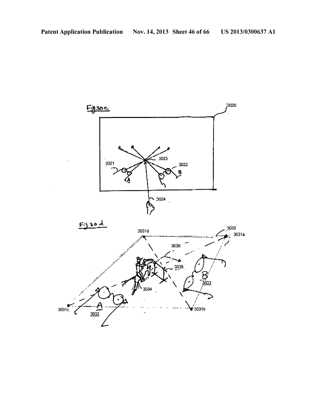 SYSTEM AND METHOD FOR 3-D PROJECTION AND ENHANCEMENTS FOR INTERACTIVITY - diagram, schematic, and image 47