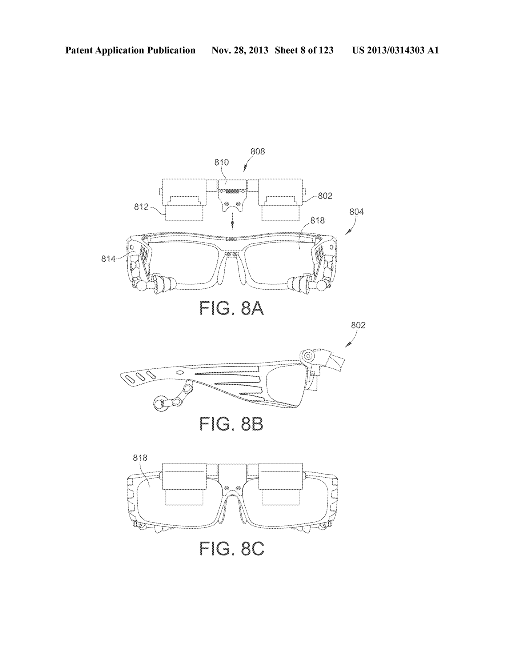AR GLASSES WITH USER ACTION CONTROL OF AND BETWEEN INTERNAL AND EXTERNAL     APPLICATIONS WITH FEEDBACK - diagram, schematic, and image 09