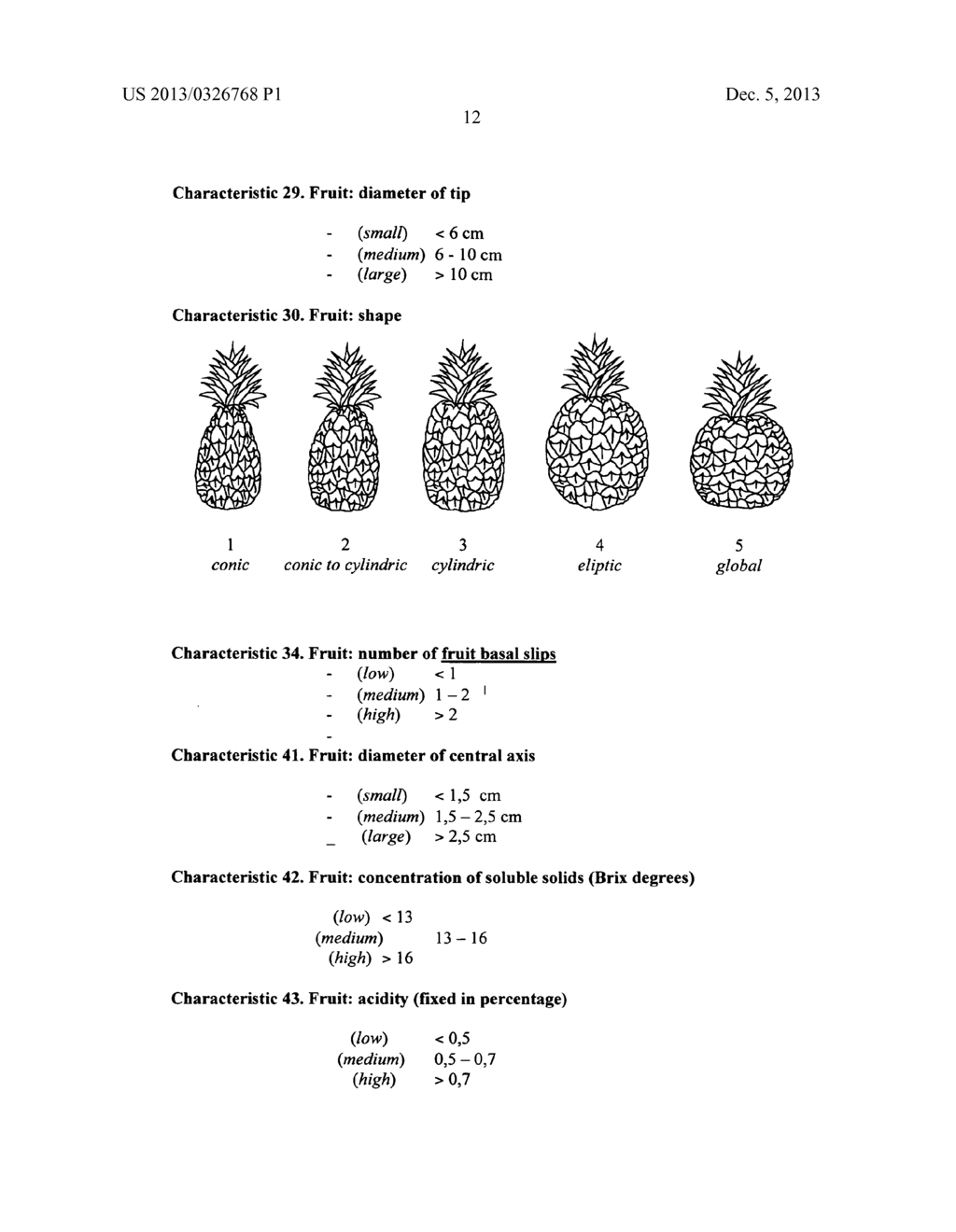 Pineapple plant named Rose (EF2-114) - diagram, schematic, and image 12