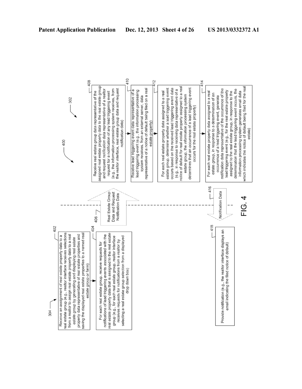 REAL ESTATE SYSTEMS AND METHODS FOR PROVIDING LEAD NOTIFICATIONS BASED ON     AGGREGATE INFORMATION - diagram, schematic, and image 05