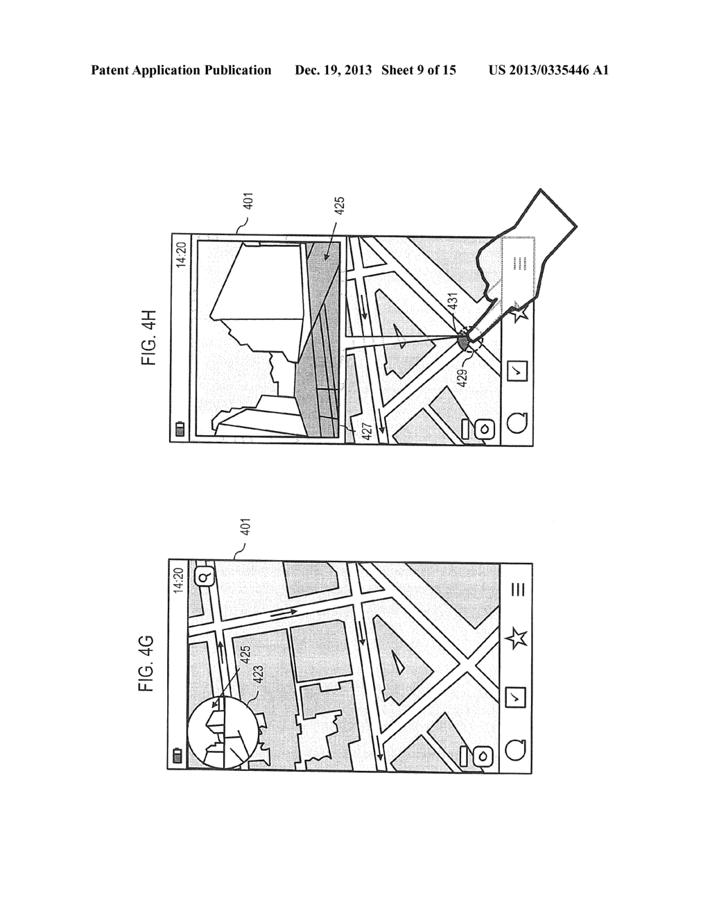 METHOD AND APPARATUS FOR CONVEYING LOCATION BASED IMAGES BASED ON A     FIELD-OF-VIEW - diagram, schematic, and image 10