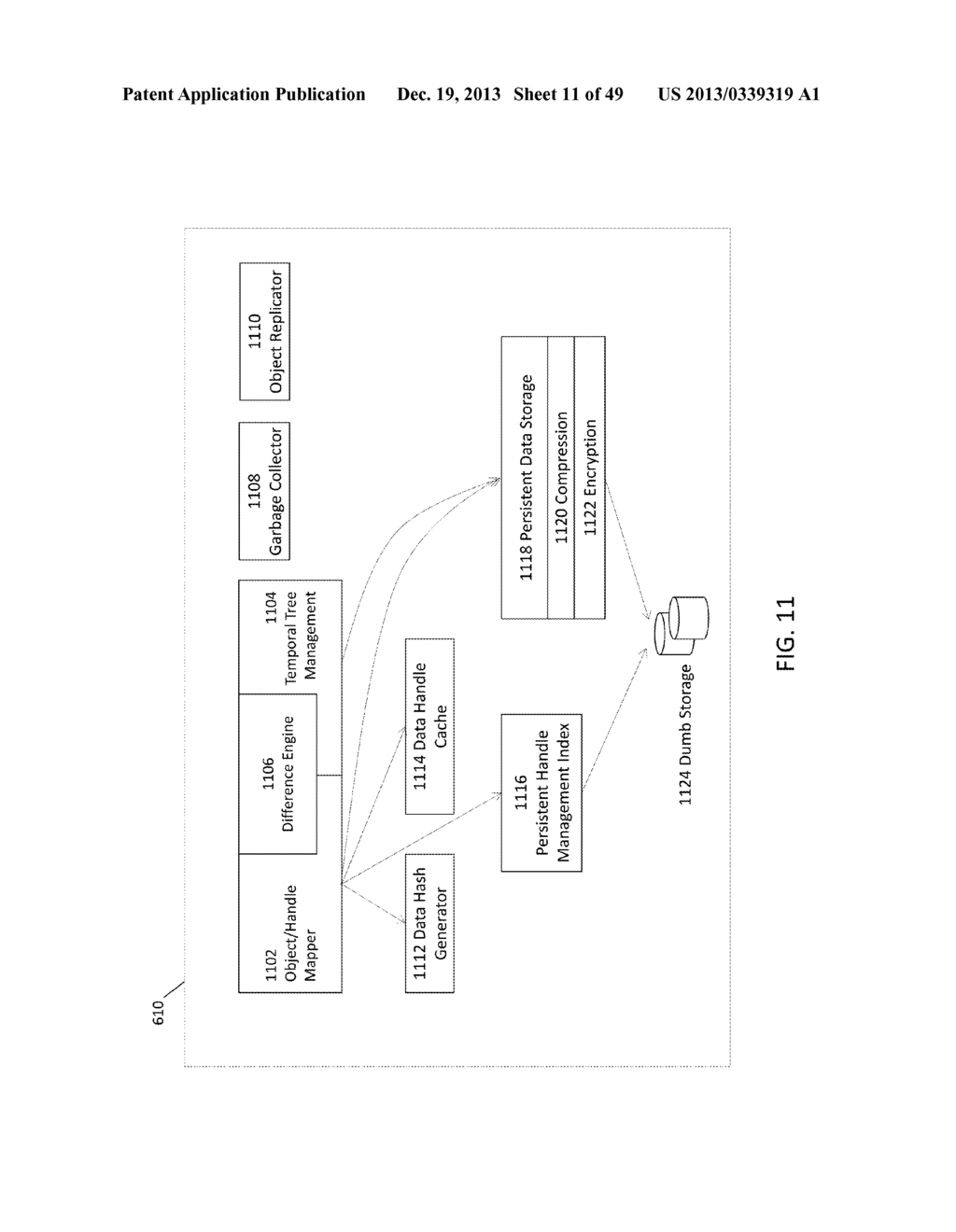 SYSTEM AND METHOD FOR CACHING HASHES FOR CO-LOCATED DATA IN A     DEDUPLICATION DATA STORE - diagram, schematic, and image 12