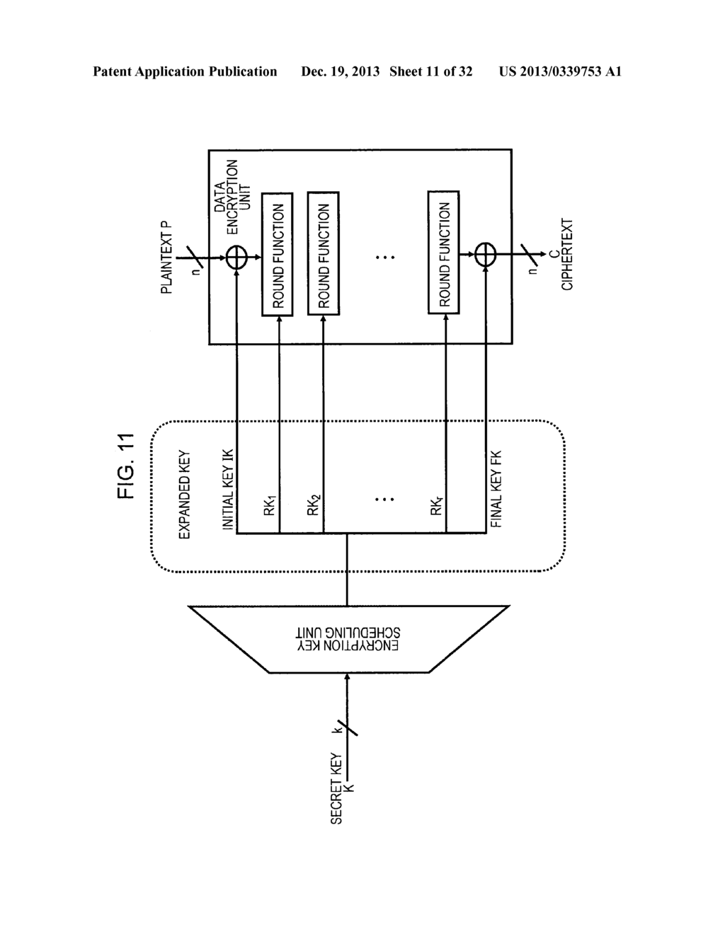 ENCRYPTION PROCESSING DEVICE, ENCRYPTION PROCESSING METHOD, AND PROGRAM - diagram, schematic, and image 12