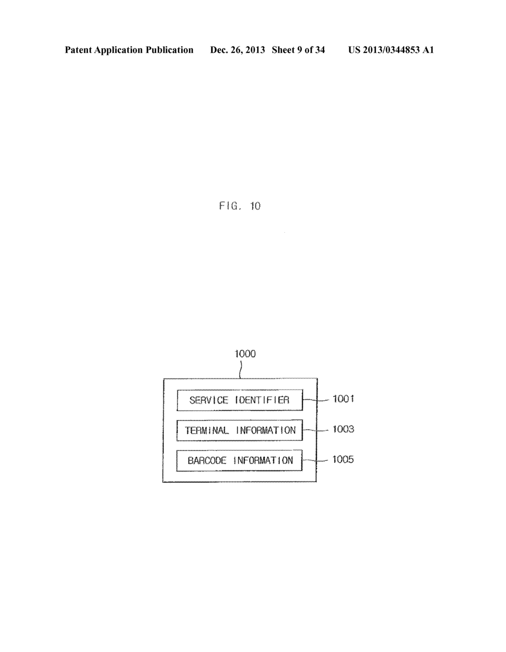 METHOD FOR PROVIDING MOBILE SERVICE USING CODE-PATTERN - diagram, schematic, and image 10