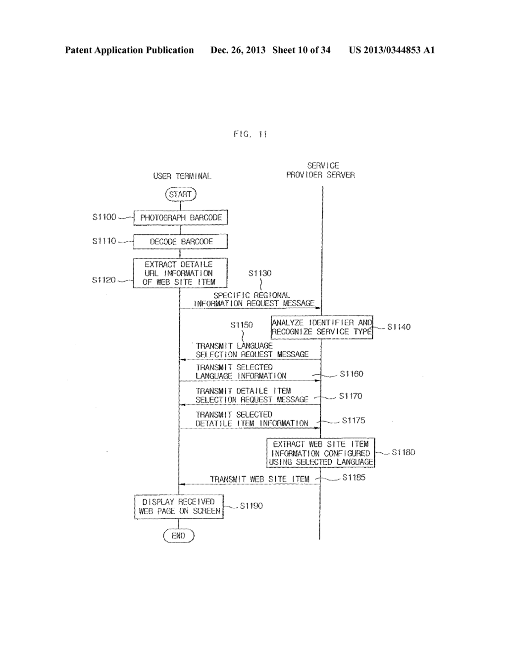 METHOD FOR PROVIDING MOBILE SERVICE USING CODE-PATTERN - diagram, schematic, and image 11