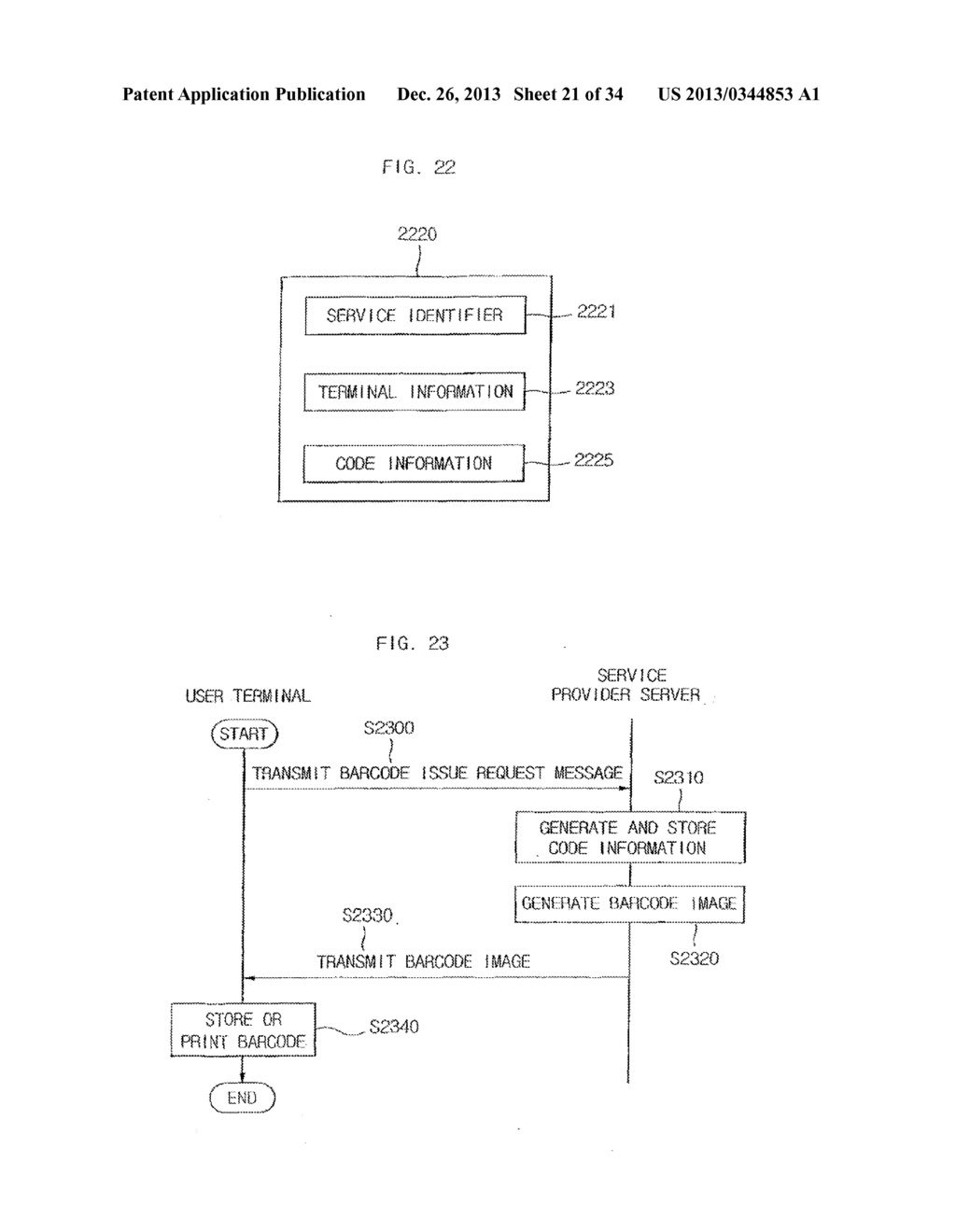 METHOD FOR PROVIDING MOBILE SERVICE USING CODE-PATTERN - diagram, schematic, and image 22