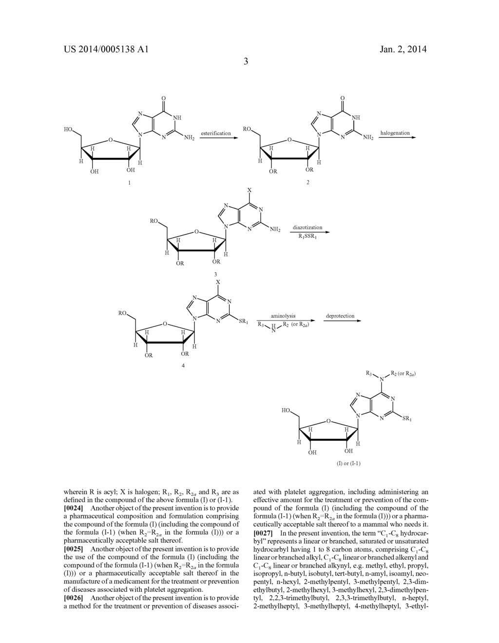 Ribofuranosyl Purine Compounds, Methods for Preparing the Same and Use     Thereof - diagram, schematic, and image 04