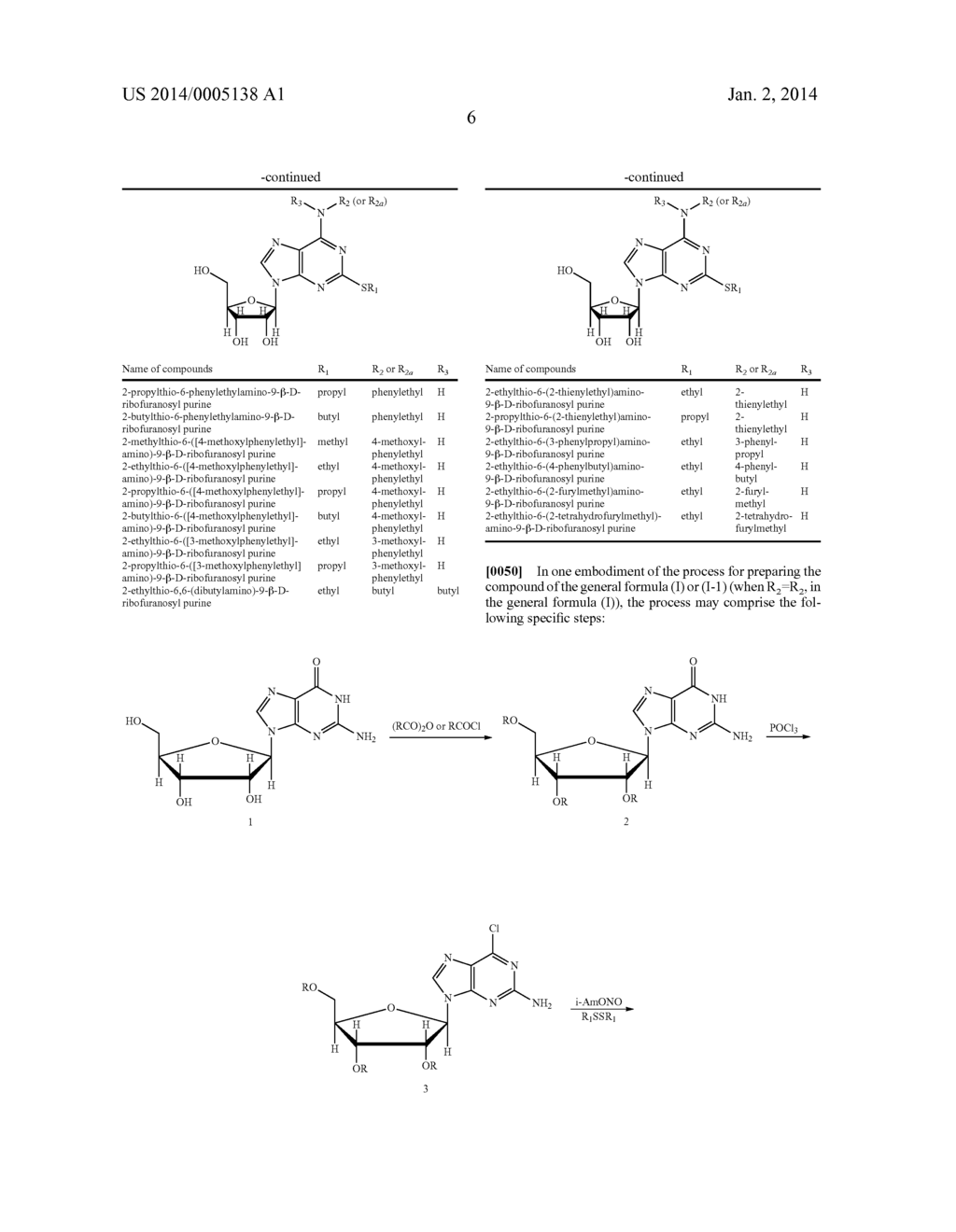 Ribofuranosyl Purine Compounds, Methods for Preparing the Same and Use     Thereof - diagram, schematic, and image 07