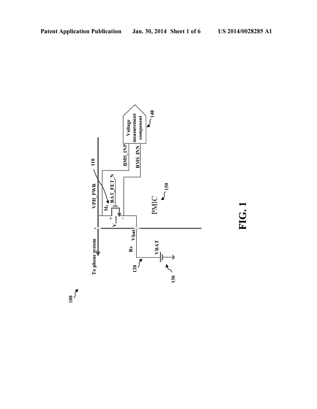 Method And Apparatus For Temperature Adjusted Control Of Batfet Sensing Current Diagram Schematic Image 02