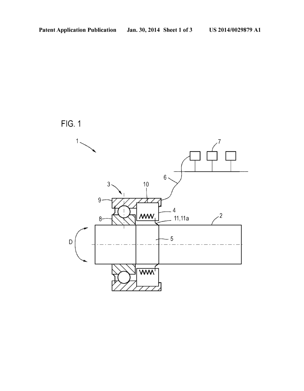 COMBINATION OF A DRIVE SHAFT TRANSMITTING A TORQUE AND A
