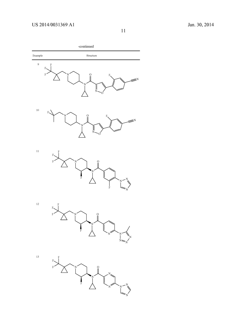 N-CYCLOPROPYL-N-PIPERIDINYL-AMIDE DERIVATIVES, PHARMACEUTICAL COMPOSITIONS     CONTAINING THEM AND USES THEREOF - diagram, schematic, and image 12
