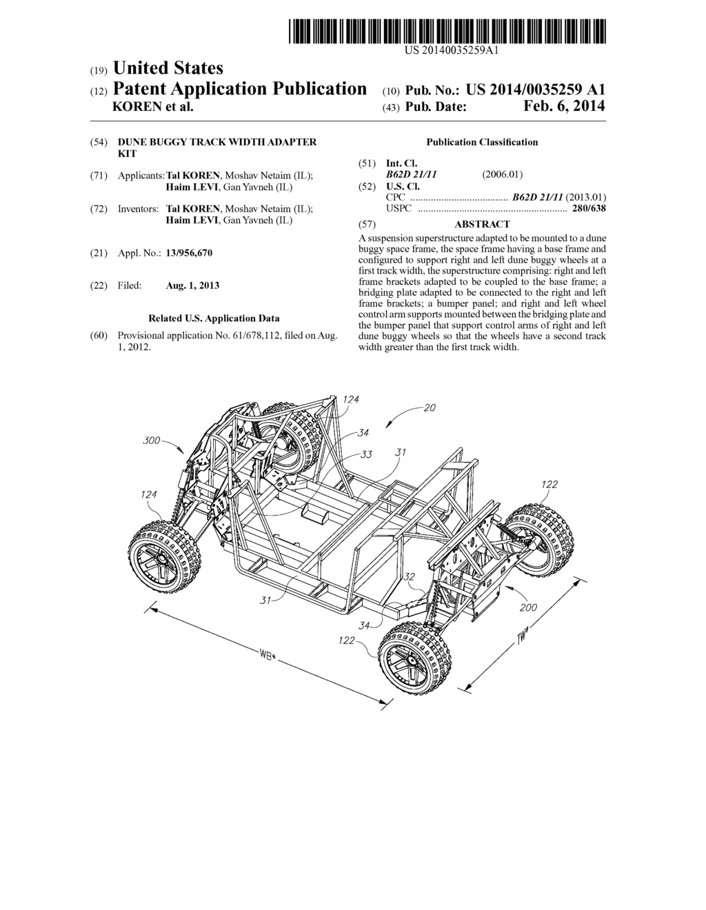 DUNE BUGGY TRACK WIDTH ADAPTER KIT - diagram, schematic, and image 01