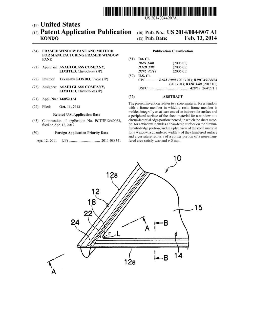 FRAMED WINDOW PANE AND METHOD FOR MANUFACTURING