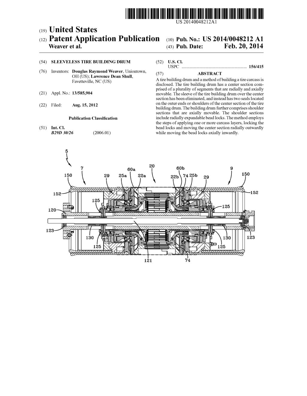 sleeveless tire building drum diagram schematic and image 01 rh patentsencyclopedia com