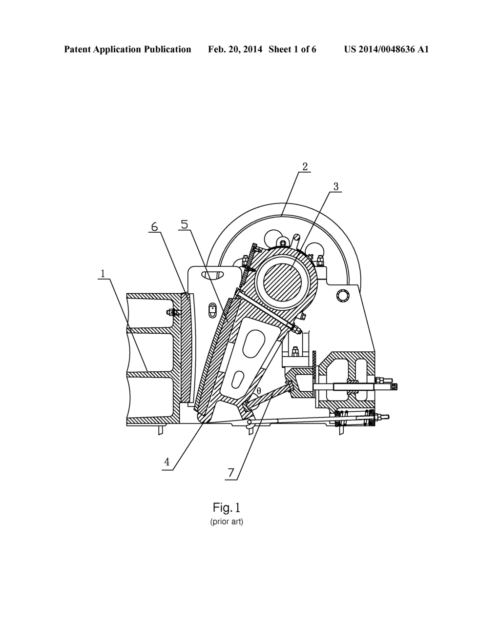 Jaw Crusher with Double-Crank-Rocker Mechanism - diagram ... on