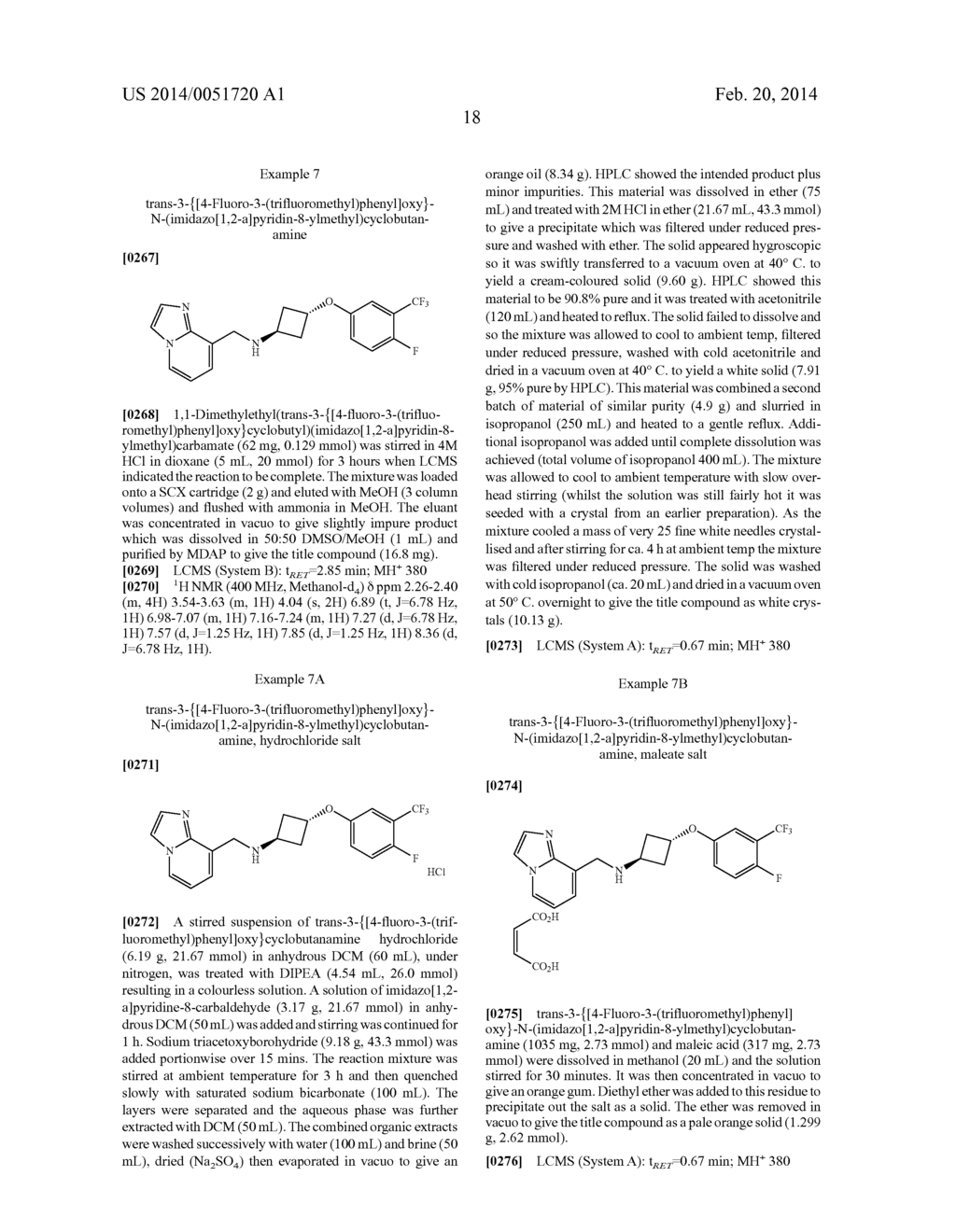 N-Cyclobutyl - Imidazopyridine - Methylamine As TRPV1 Antagonists - diagram, schematic, and image 22