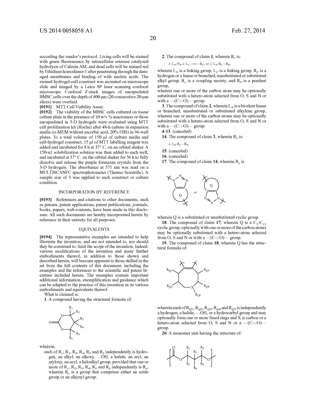 MONOMERS AND POLYMERS FOR FUNCTIONAL POLYCARBONATES AND     POLY(ESTER-CARBONATES) AND PEG-CO-POLYCARBONATE HYDROGELS - diagram, schematic, and image 41