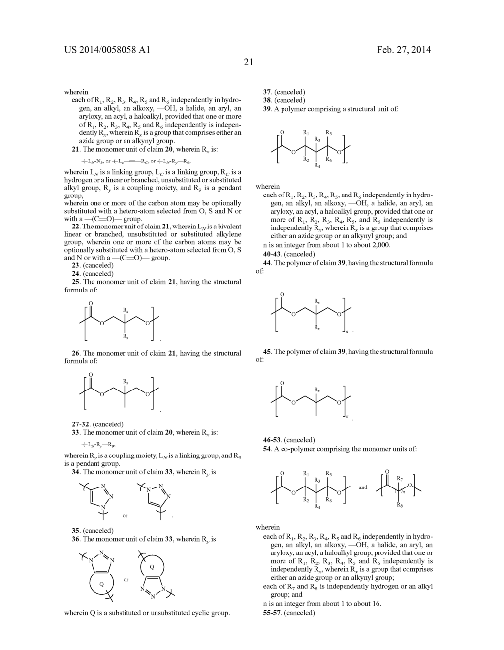 MONOMERS AND POLYMERS FOR FUNCTIONAL POLYCARBONATES AND     POLY(ESTER-CARBONATES) AND PEG-CO-POLYCARBONATE HYDROGELS - diagram, schematic, and image 42