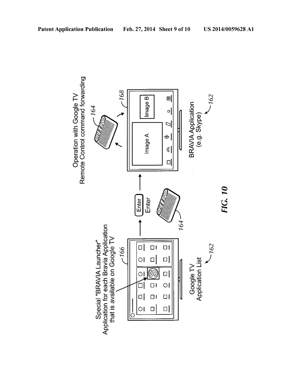 internet tv module for enabling presentation and navigation of non-native  user interface on tv having native user interface using either tv remote  control